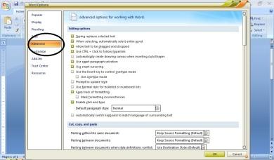 Merubah Satuan Margin word 2007