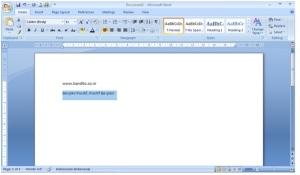 Change Case Pada MS Word 2007