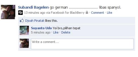 Update Status Facebook Via BlackBerry Virtual (Boooongan)